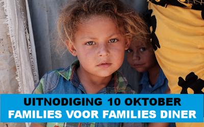 Uitnodiging Families voor Families diner 10 oktober